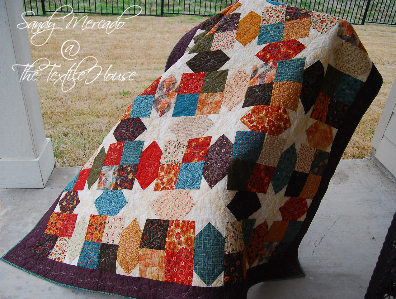 Textile House: Hidden Stars is on it's way to it's new Home : log cabin hidden stars quilt pattern - Adamdwight.com